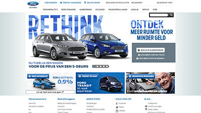 Screenshot ford.nl