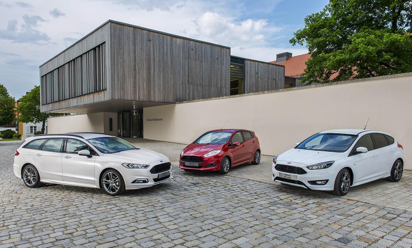 Ford Fiesta, Focus en Mondeo
